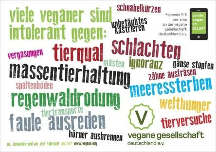 Menschen, die auf tierische Produkte verzichten...