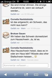 Facebook-Dialog