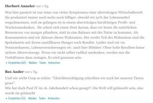 2 online-Kommentare von Bund-Lesern